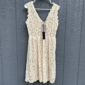 Greylin Anthropologie Sleeveless Lace Dress NWT M